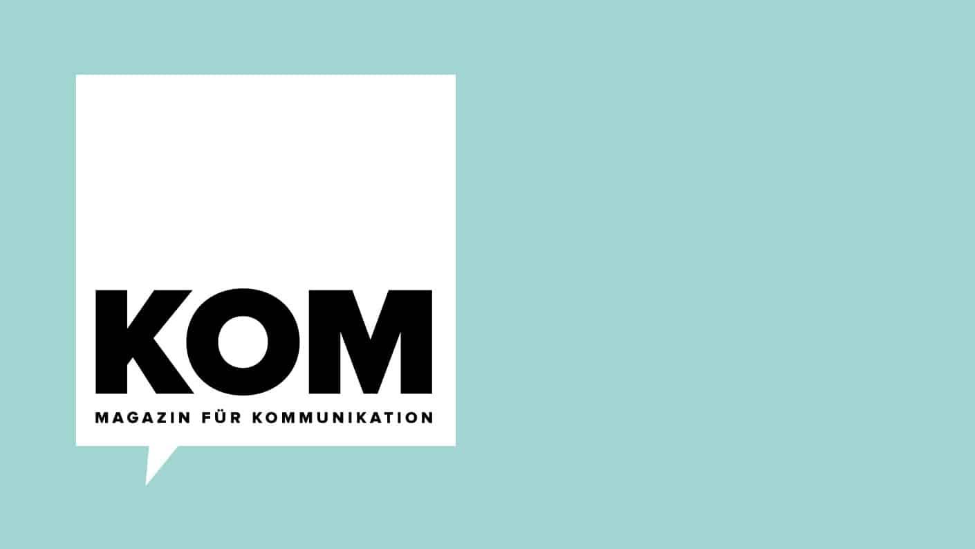 """Neuer Titel, neuer Look: Aus """"pressesprecher"""" wurde KOM."""