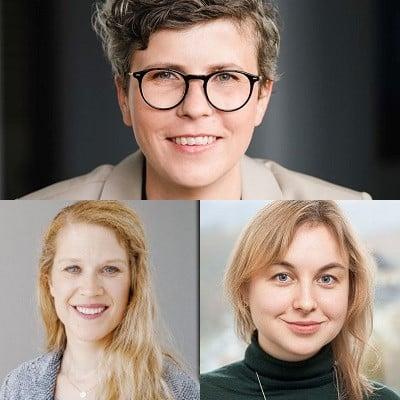 Stephanie Raddatz (o.) Katrin Kaiser (u.l.), Anastasia Boyarchenko (u.r.) (c) Wintershall Dea