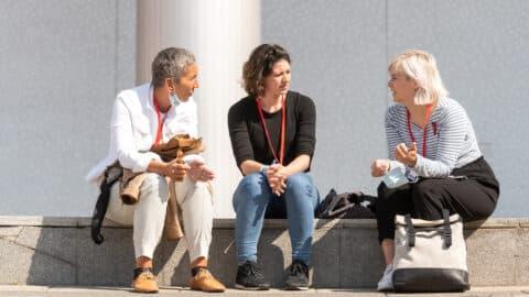 An zwei Tagen traf sich die PR-Szene auf dem Kommunikationskongress - digital, aber auch vor Ort in Berlin. (c) Laurin Schmid