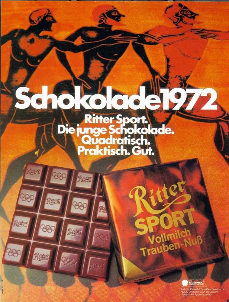 Ritter Sport Werbung 1972 1996 (c) Alfred Ritter GmbH U0026Co. KG