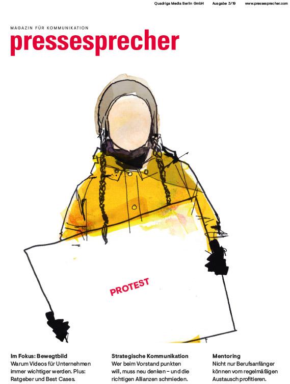 Die neue Ausgabe des pressesprecher: Protest 03/2019 / (c) pressesprecher