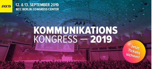 """Der Kommunikationskongress 2019 steht unter dem Motto """"Zeit""""."""