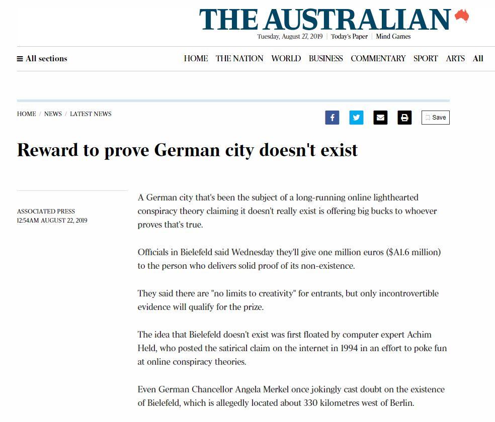 The Australian Bielefeld