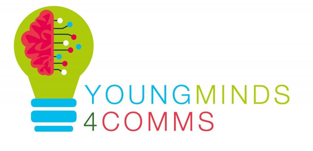 "Das Logo von ""Young Minds 4 Comms"""