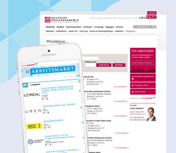Newsletter Arbeitsmarkt und Homepage Depak-Jobbörse