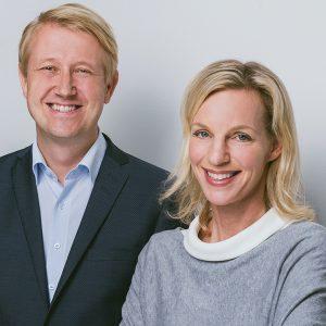 Wiebke Ankersen mit Co-Geschäftsführer Christian Berg (c) Allbright-Stiftung