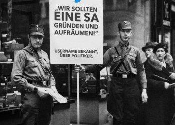 """Die Kampagne von """"Laut gegen Nazis"""" will verhindern, dass Worte wie in den 30ern auch heute zu Taten werden."""