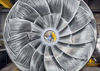 "Sieger 2014: ""Voith-Turbinenlaufrad"" (Voith GmbH; Foto: Marius Hoefinger)"