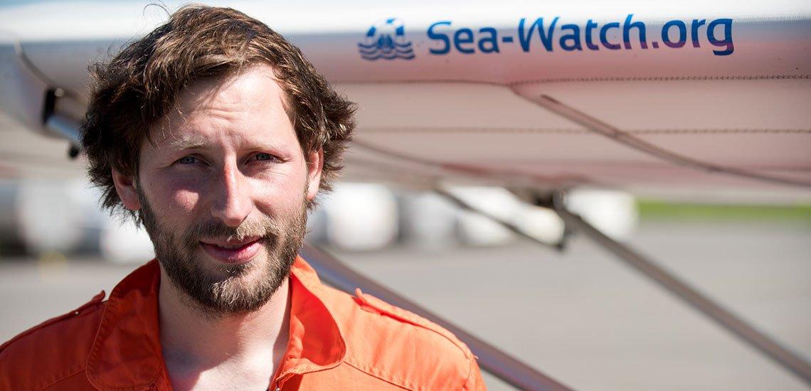 Ruben Neugebauer ist Sprecher und Aktivist bei Sea-Watch. / Ruben Neugebauer: (c) Sea-Watch
