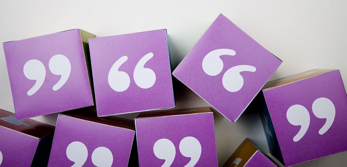 Falsch gesetzt, können Anführungszeichen zu Missverständnissen führen. (c) Getty Images/mattjeacock