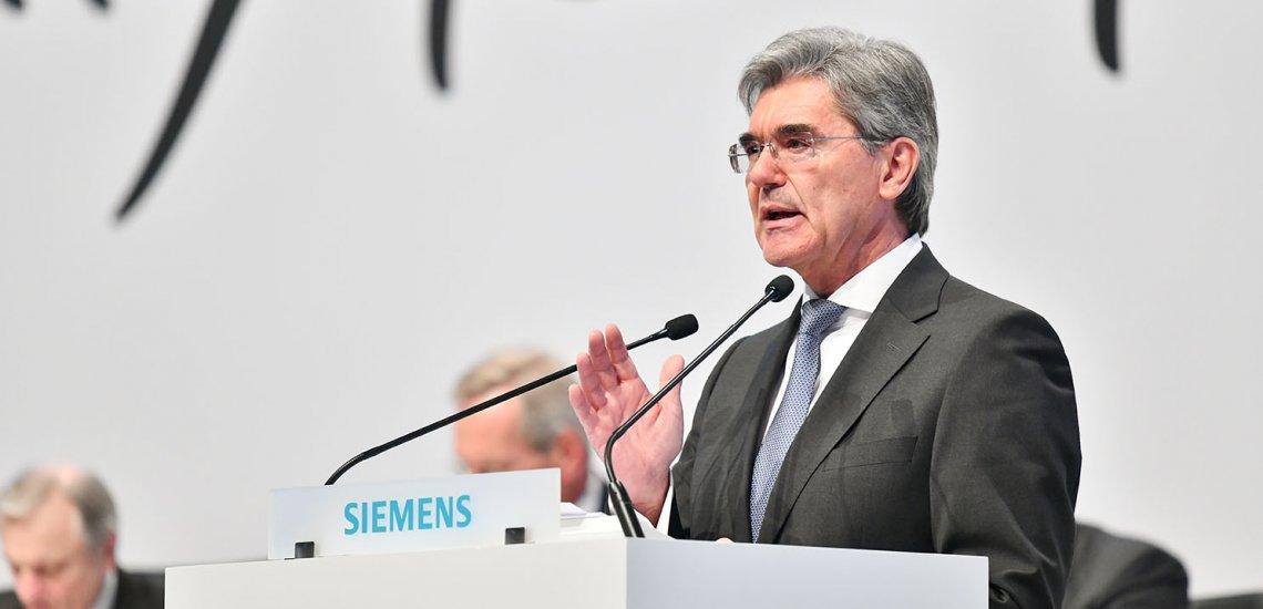 Joe Kaeser kritisiert in einem Tweet die Inhaftierung Carola Racketes./ Joe Kaeser: (c) Siemens-AG