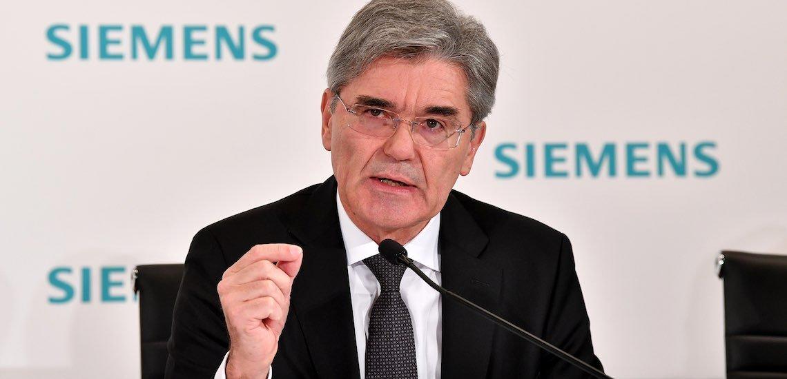 Joe Kaeser kündigt den umstrittenen Adani-Auftrag nicht. / Joe Kaeser: (c) Siemens