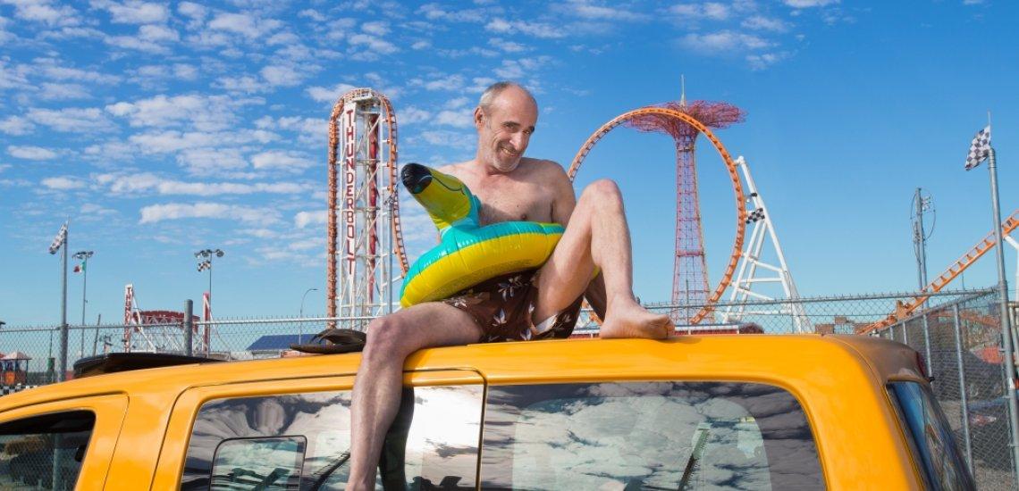 Die strahlend gelben NYC Taxis werden für das kommende Jahr verrückt in Szene gesetzt (c) Shannon Kirkman