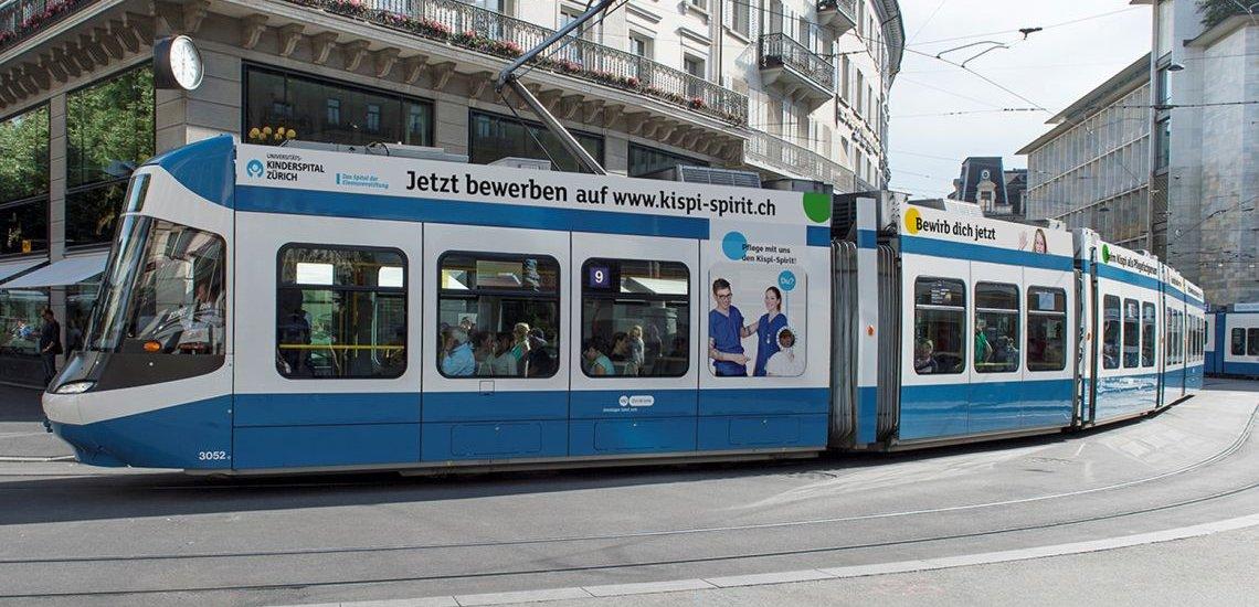 """Kampagne """"Pflege mit uns den Kispi"""" (c) Kinderspital Zürich"""