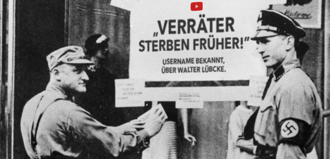 "Historische Fotos aus der Nazizeit sollen heute vor den Folgen des rechten Hasses warnen./ ""Laut gegen Nazis"": (c) Laut gegen Nazis/Brinkert Metzelder"
