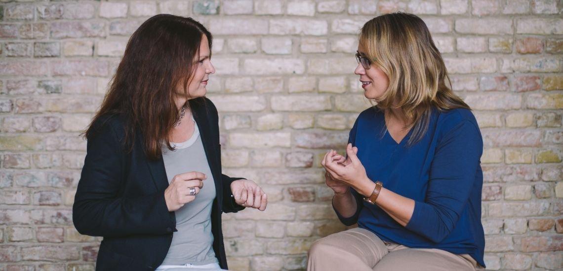 Foto: Anja Schlicht und Charlotte Holzum (c) Julia Nimke
