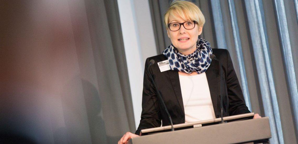 Margarete Dinger auf der 5. Tagung Redenschreiben in Berlin (c) Laurin Schmid