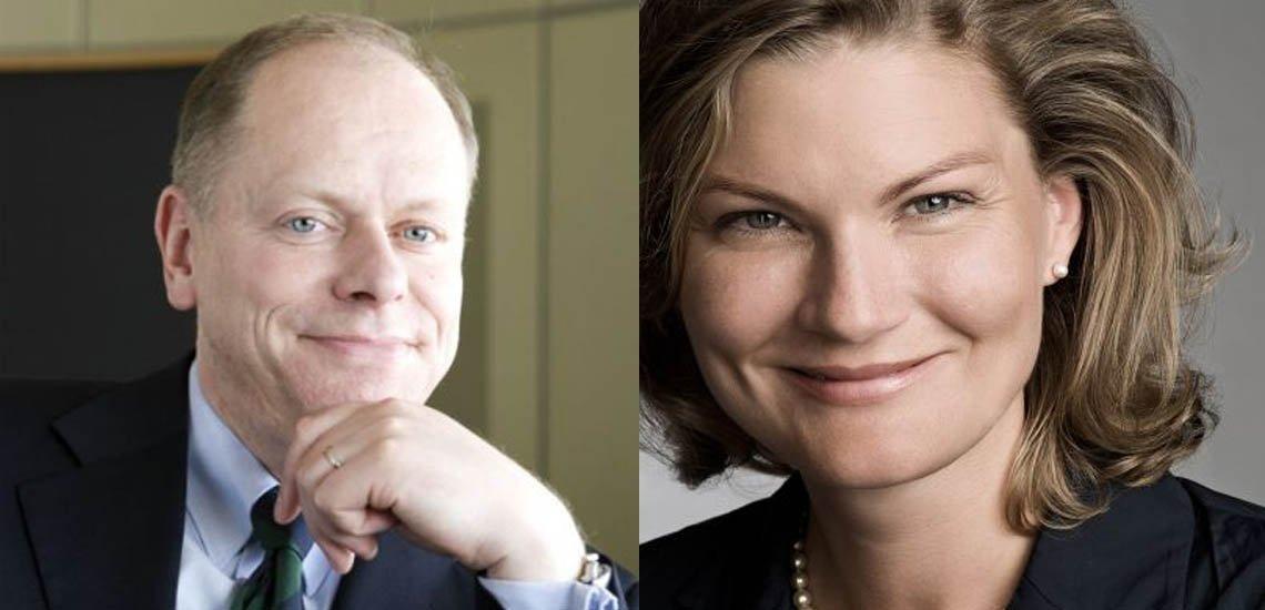 BdP-Präsident Jörg Schillinger (l.) wird bei den Wahlen im September nicht mehr kandidieren. Er schlägt Vizepräsidentin Regine Kreitz (r.) als Nachfolgerin vor. (c) BdP, Collage: Laurin Schmid