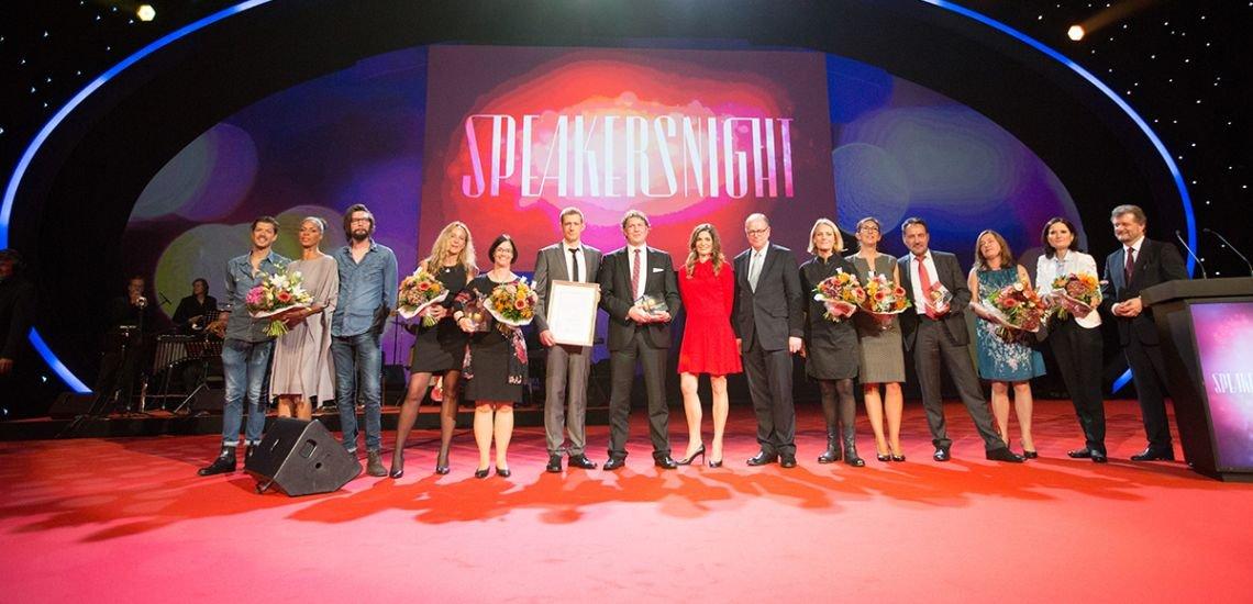 Die Preisträger bei der Speakersnight 2015 im Friedrichstadt-Palast (c) Julia Nimke/Quadriga Media