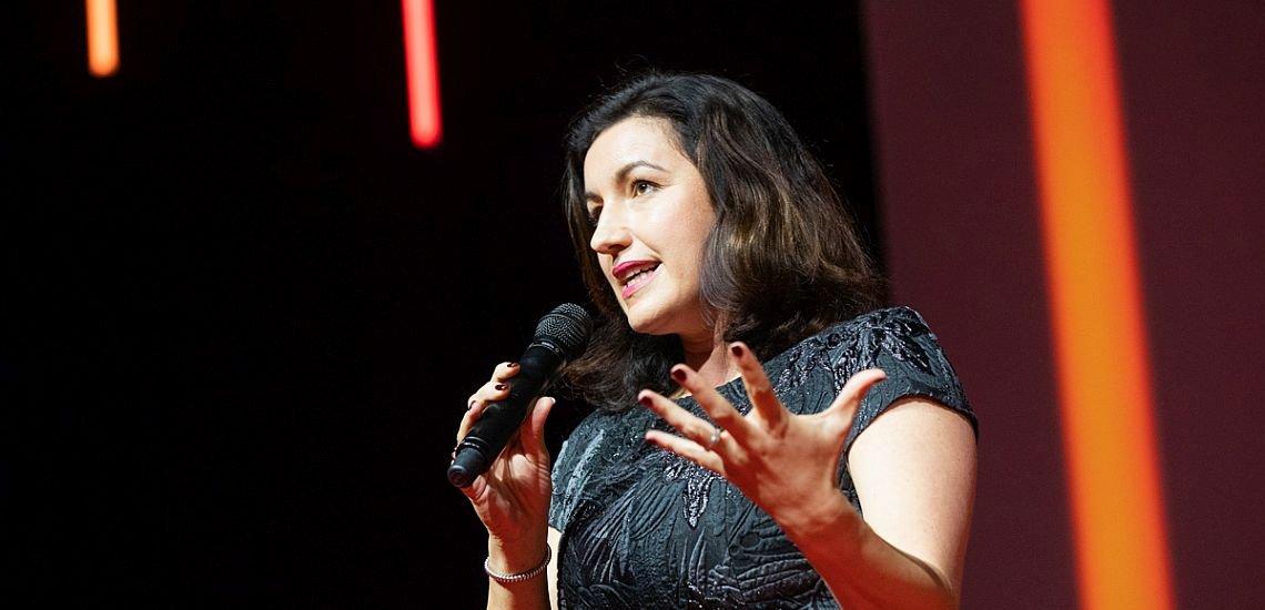 Dorothee Bär, Staatsministerin für Digitalisierung, forderte in ihrer Keynote zu mehr Mut auf. (c) Jana Legler/Quadriga Media Berlin
