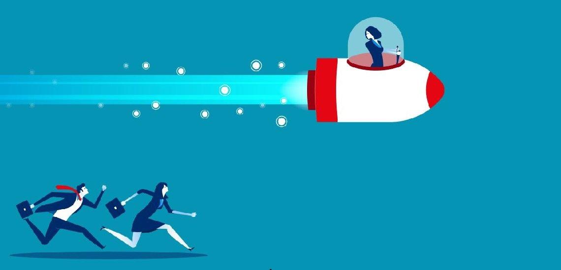 Mit souveränem Auftreten lässt man die Konkurrenz schnell hinter sich. (c) Thinkstock/uzenzen