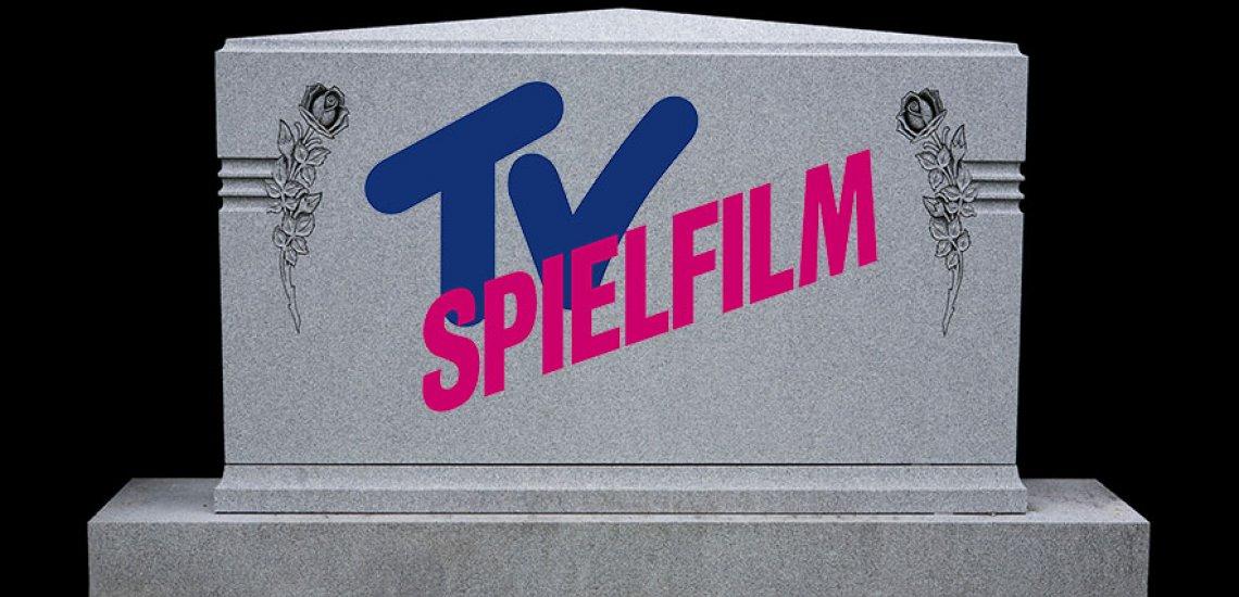 Die Redaktion von TV Spielfilm wird aufgelöst. / Grabstein: Getty Images/ diane39