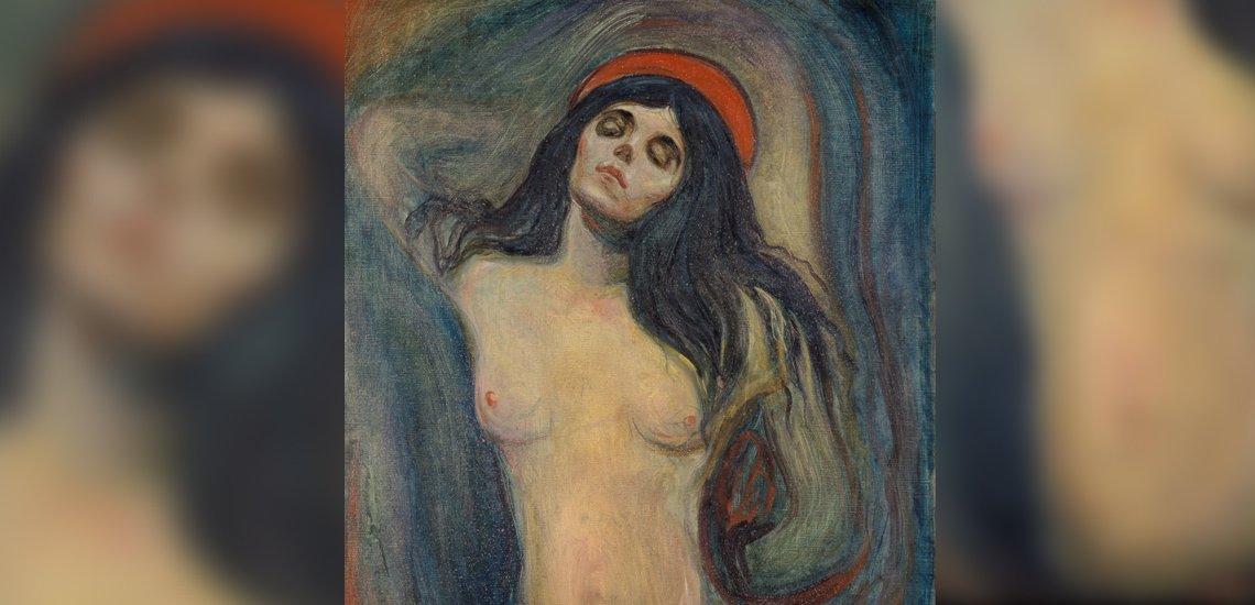 """Mit Akt-Gemälden auf ihrer Facebook-Seite protestierte die """"B.Z."""" gegen die Untätigkeit von Facebook bei fremdenfeindlichen Posts (c) Edvard Munch – Madonna / Wikimedia Commons / Version from Munch Museum, Oslo. 1894"""