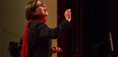 Ein Interview mit Astrid Graf, Dirigentin des Frauenblasorchesters Berlin (c) Gudrun Arndt