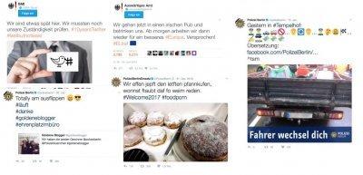 Screenshots von Twitter-Aktivitäten von Bundes- und Landesbehörden