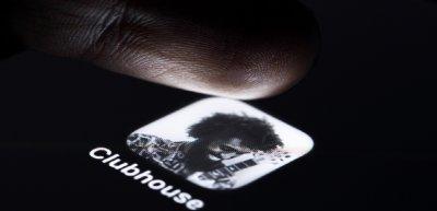 Das App-Symbol von Clubhouse. (c) Picture Alliance/Geisler-Fotopress/Christoph Hardt