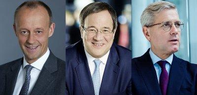 Wer macht das Rennen um den CDU-Vorsitz? / Fotos: (1) CDU/Laurence Chaperon (2) Laurence Chaperon (3) Steffen Roth