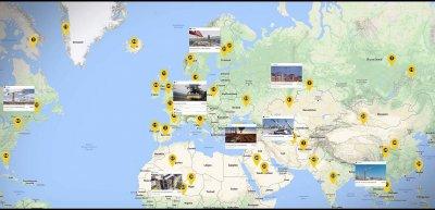 """In der von Liebherr ins Leben gerufene Online-Community """"Tower Crane World"""" tauschen Kran-Liebhaber aus aller Welt ihre Fotos aus. (c) Screenshot"""