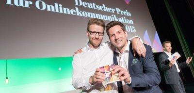 dpok-Preisträger Matthias Stock und Christoph Assmann freuen sich über ihre Auszeichnung (c) Laurin Schmid