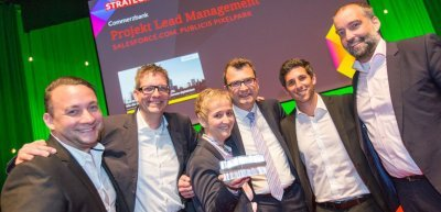 """Die Commerzbank war der Gewinner in der Kategorie """"Strategie des Jahres"""" (c) Julia Nimke"""