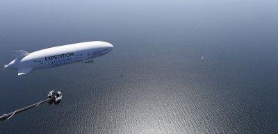Der Zeppelin als Symbol, neue Wege zu gehen - in der Forschung als auch in der Kommunikation. (c) HZG/ Torsten Fischer