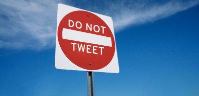 Twitter verbietet bezahlte, politische Werbung. / Werbeverbot: (c) Getty Images/5m3photos