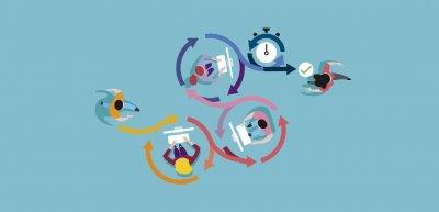 Es braucht sechs Faktoren, um eine agile Organisation mit flachen Hierarchien aufzubauen. (c) Getty Images/Jesussanz