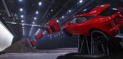Mit einem Weltrekord Schlagzeilen machen? Jaguar hat das mit einem spekakulären Stunt geschafft. (c) Nick Dimbleby