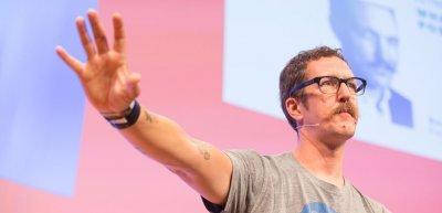 Der Futurist Ben Hammersley appellierte an die Kommunikatoren, die Debatte über die postdigitale Ära anzuführen. (c) Jana Legler