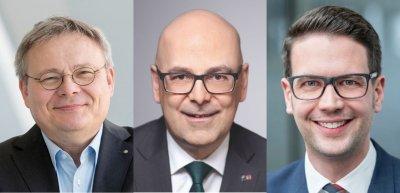 Jörg Howe, Torsten Albig, Florian Amberg (c) Gerald Starke, Susie Knoll, privat