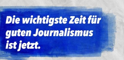 Rund 50 südwestdeutsche Tageszeitungen setzen sich im Rahmen der Kampagne für Qualitätsjournalimus ein. (c) Journalismus zeigt Gesicht