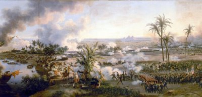 "Gemälde ""Schlacht bei den Pyramiden"" aus dem Jahr 1798 von Louis-François Lejeune (c) Wikimedia Commons/Photo RMN-Grand Palais - G. Blot"