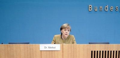 Angela Merkel stellt sich den Fragen der Hauptstadtpresse am 21. Januar. (c) picture alliance/dpa/Michael Kappeler