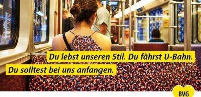 Plakatmotiv der Kampagne #weilwirdichlieben der BVG (c) BVG