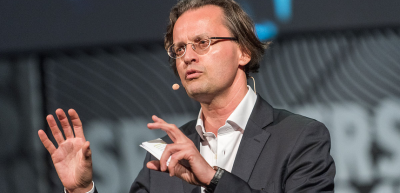Bernhard Pörksen auf der Speakersnight im September 2017 in Berlin. (c) Laurin Schmid