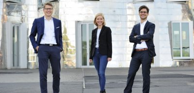 Das Gründungsteam der Initiative: PRCC-Geschäftsführer Thomas Lüdeke (l.) und Philip Müller (r.) mit Community-Managerin Katharina O'Sullivan. (c) PRCC