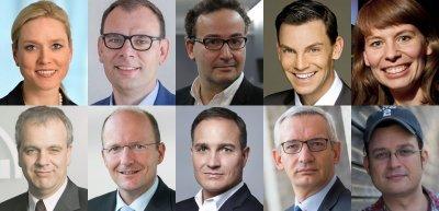 Collage der meistgelesenen Personalien (c) Marco Urban/Vodafone/Lufthansa Group/Marcus Jurk/Siemens/Andreas Pohlmann/Laurin Schmid/privat