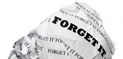 Das Recht auf Vergessenwerden (c) Getty Images/iStockphoto/Asergieiev