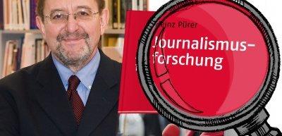 """PR-Prof Gerhanrd Vowe bespricht """"Journalismusforschung"""" von Heinz Pürer (c) Christoph Rau / Illustration: Quadriga Media Berlin"""