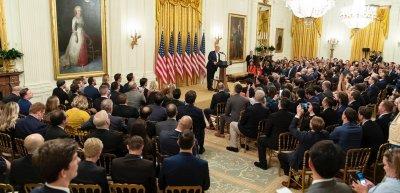 Donald Trump veranstaltet einen Social-Media-Gipfel ohne soziale Medien./ Social-Media-Summit: (c) Twitter/@realDonaldTrump